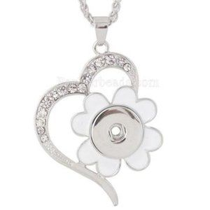 Jewelry - New Long Enameled Flower Snap Jewelry Necklace